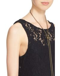 Free People - Black Miles Of Lace Fit & Flare Dress - Lyst