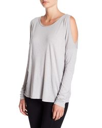 Michael Stars - Multicolor Cold Shoulder Long Sleeve Tee - Lyst