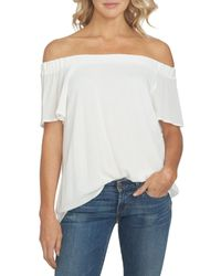 1.STATE White Off The Shoulder Blouse