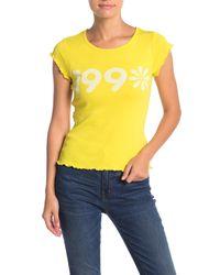 Chaser Yellow 90s Daisy Baby Rib Tee