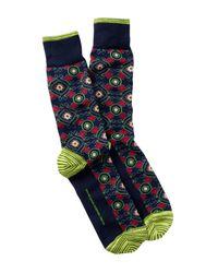 Robert Graham - Blue Pasquino Crew Socks for Men - Lyst