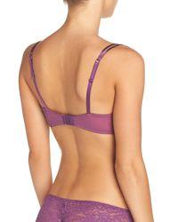 B.tempt'd Purple 'ciao Bella' Underwire Balconette Bra