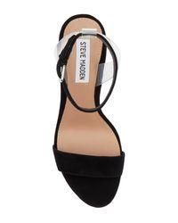 Steve Madden - Black Casita Ankle Strap Sandal - Lyst