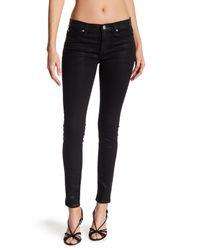 Hudson - Black Nico Mid Rise Super Skinny Jeans - Lyst