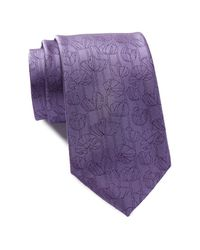 CALVIN KLEIN 205W39NYC - Purple Tulip Silk Tie for Men - Lyst