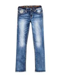 Rock Revival Blue Easy Straight Leg Jeans