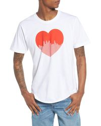 Casual Industrees White Heart Graphic T-shirt for men