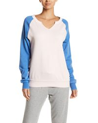 The Laundry Room Blue Colorblock Raglan Sweatshirt
