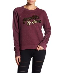 Betsey Johnson - Purple Sparkle & Shine Sequin Pullover - Lyst