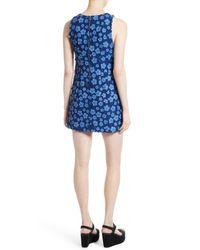 Alice + Olivia Blue Clyde A-line Shift Dress