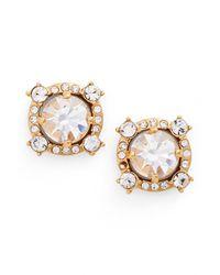 Kate Spade - Metallic Crystal Stud Earrings - Lyst