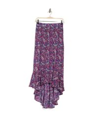 Nanette Lepore Purple Shayla High Low Skirt