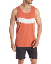 Zanerobe Orange Rugger Tie-dye Tank for men