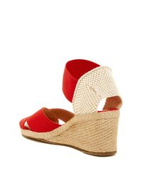 Andre Assous Red Erika Wedge Sandal