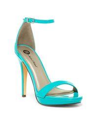 Michael Antonio Blue Lovina Island Ankle Strap Stiletto