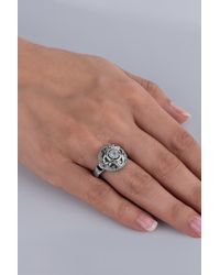 Carolyn Pollack | Sterling Silver White Moonstone Filigree Round Ring | Lyst