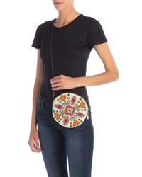 G-Lish Multicolor Geo Beaded Round Pouch