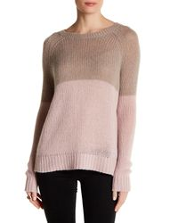 360cashmere | Pink Antoinette Colorblock Cashmere Sweater | Lyst