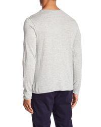 Loft 604 - Gray Crew Neck Long Sleeve Pullover Shirt for Men - Lyst