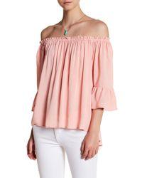 PPLA - Pink Myla Off-the-shoulder Blouse - Lyst