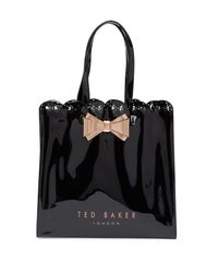 Ted Baker - Black Evecon Large Bow Tote Bag - Lyst