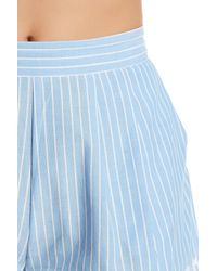 Romeo and Juliet Couture Blue Pleated Stripe Short