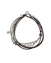 Uno De 50 | Brown Heavy Treasure Multistrand Leather Bracelet | Lyst