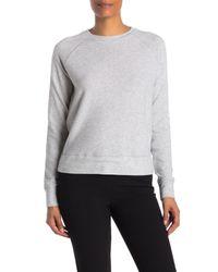 Vince Gray Heathered Raglan Sleeve Sweatshirt