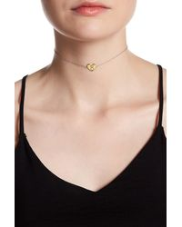 Argento Vivo Metallic Sterling Silver 'r' Initial Heart Choker Necklace
