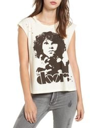 Mimi Chica White The Doors Graphic Tee