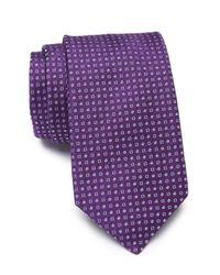 BOSS Purple Square Dot Silk Tie for men