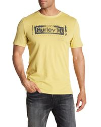 Hurley - Yellow Roller Crew Neck Graphic Tee for Men - Lyst