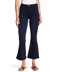 FRAME - Blue Le Crop Bell Cuff Jeans - Lyst