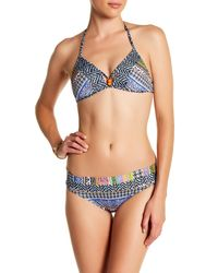 Jets by Jessika Allen | Blue Printed Hipster Bikini Bottom | Lyst