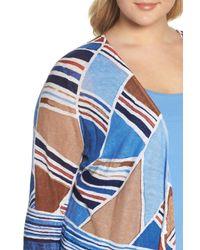 NIC+ZOE Blue Seaglass Linen Convertible 4-way Cardigan