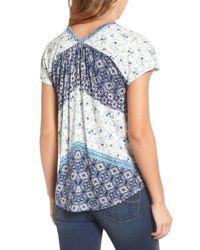 Lucky Brand | Blue Bali Ditsy Print Shirt | Lyst