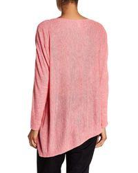 Eileen Fisher | Pink Asymmetrical Linen Shirt | Lyst
