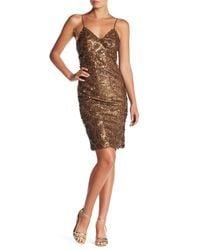 Line & Dot - Brown Lotte Sequin Pin Dress - Lyst