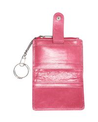 Hobo - Pink Val Indexer Leather Card Case - Lyst