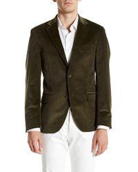 Spurr By Simon Spurr | Olive Green Two Button Notch Lapel Slim Fit Corduroy Sport Coat for Men | Lyst