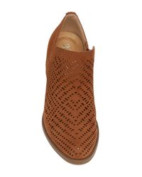 Naturalizer - Brown Zenith Perforated Leather Bootie - Multiple Widths Available - Lyst