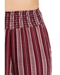 Love, Fire - Red Palazzo Print Pants - Lyst