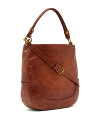 Frye - Brown Melissa Whipstitch Leather Hobo Bag - Lyst