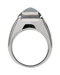 Baccarat - Metallic Medicis Sterling Silver Crystal Ring - Size 6.5 - Lyst