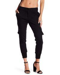 James Jeans Black Boyfriend Cargo Pants