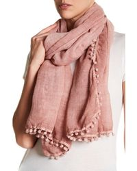 Roffe Accessories Multicolor Tasseled Scarf