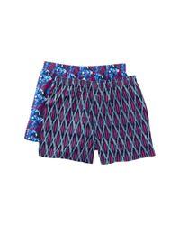 Tommy Bahama Blue Floral & Plaid Boxer - Set Of 2 for men
