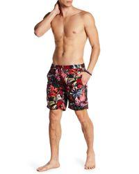 Onia Red Calder Spanish Jungle Pattern Trunks for men