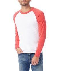 Alternative Apparel Pink Apparel Colorblocked Champ Sweater for men