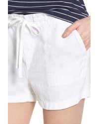 Caslon Multicolor Drawstring Linen Shorts